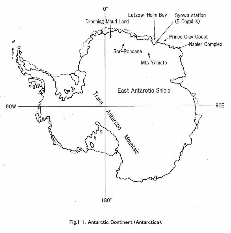 南極大陸と昭和基地