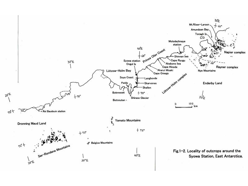 昭和基地周辺の露岩地帯
