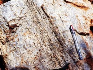 ナリア地域の珪岩