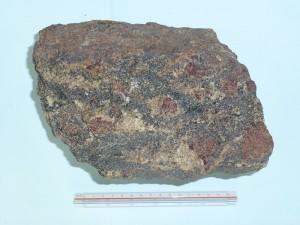 ざくろ石チャーノカイト質片麻岩