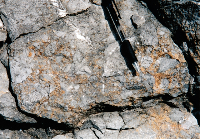 破砕構造を持った石灰岩